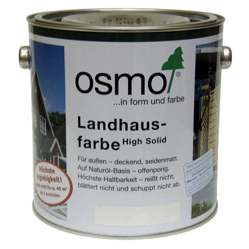 osmo landhausfarbe high solid 2 5l 2308 nordisch rot holzfarbe 27 23 l ebay. Black Bedroom Furniture Sets. Home Design Ideas